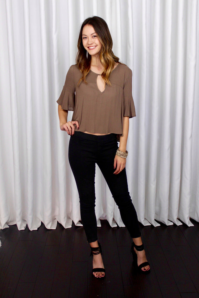 Becca Top in Taupe