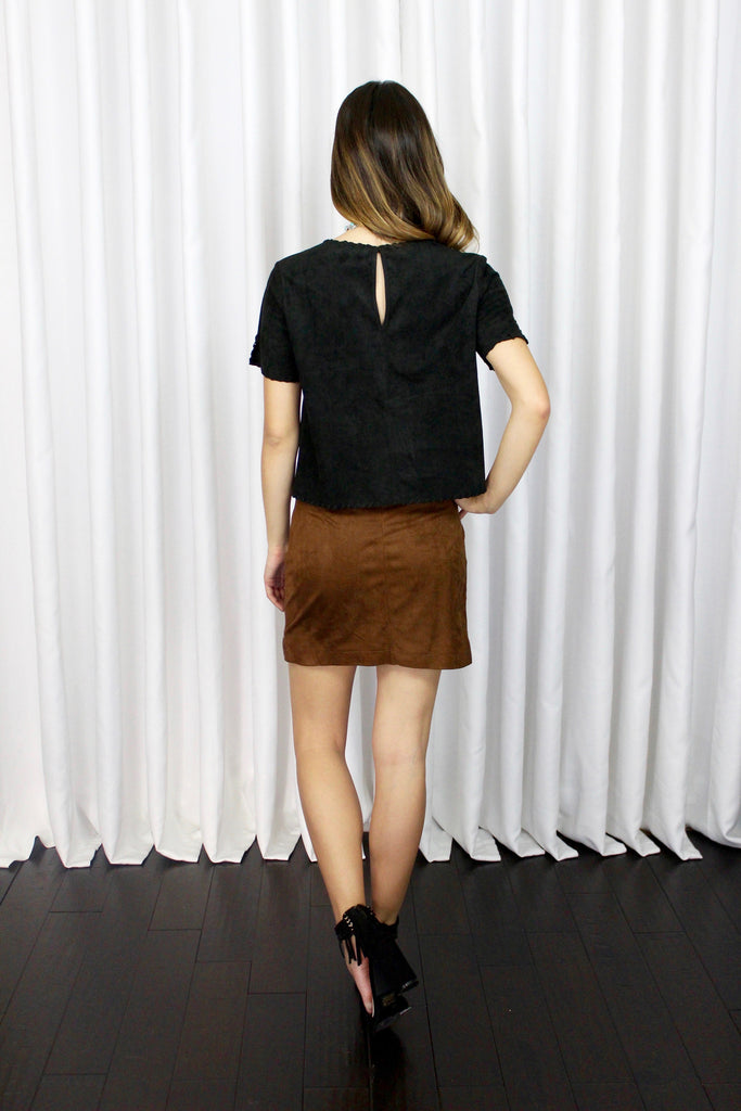 Chelsea Suede Cropped Top
