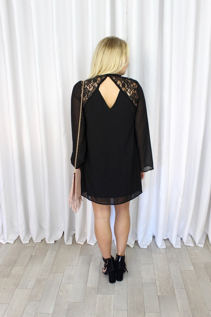 Claire Contrast Lace Dress