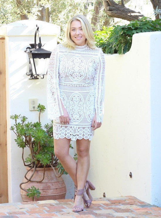 Josie Lace Dress in White