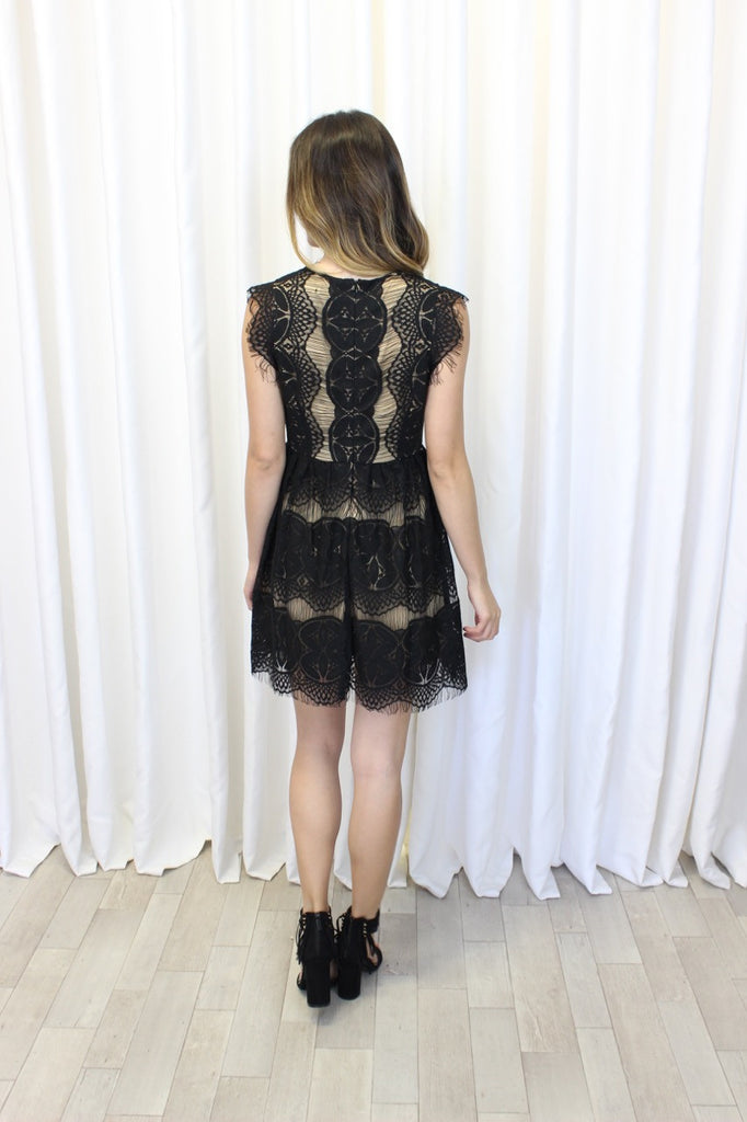 Isla Eyelash Lace Dress