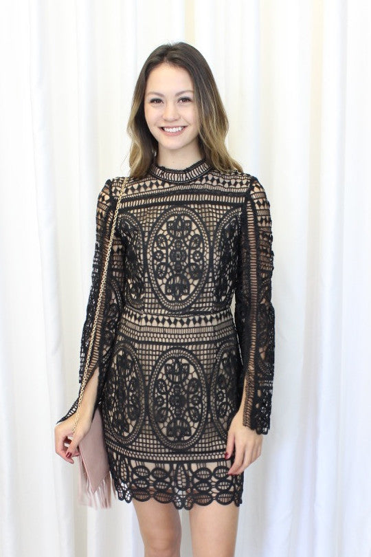 Josie Lace Dress in Black