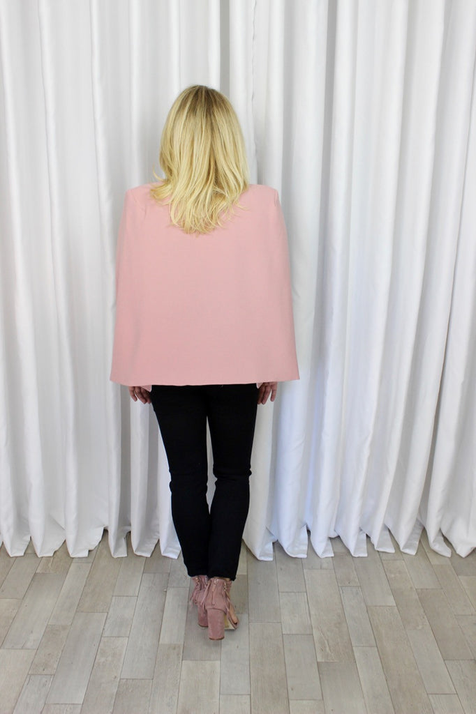 Lisette Cape Coat in Light Pink