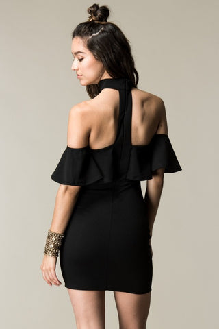 Kassie Velvet Contrast Dress