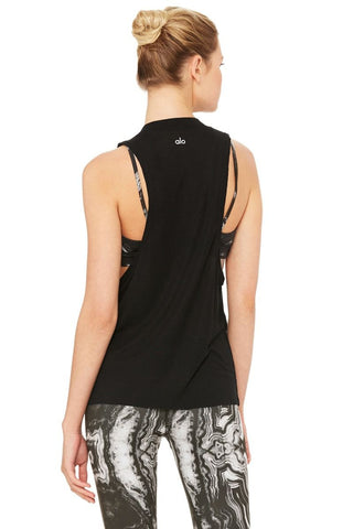 Sail Away Striped Tank - Black