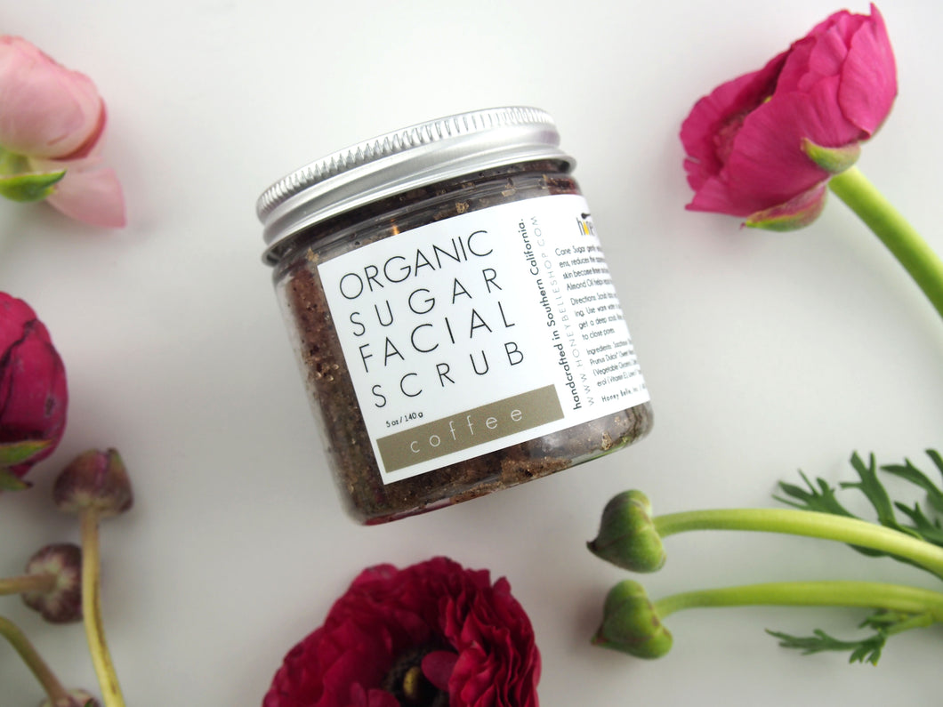 Organic Coffee Facial Scrub by Honey Belle