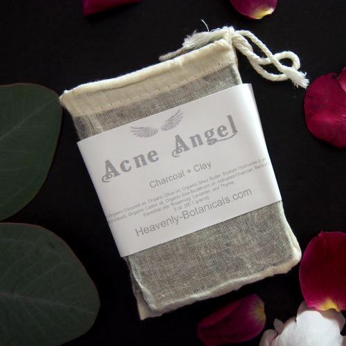 Acne Angel Charcoal + Clay Face Soap by Heavenly Botanicals - $10