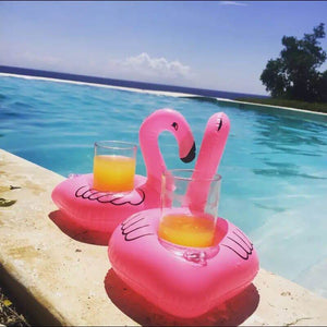 Flamingo Drink Floaty - Lovebird Pair - $10