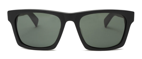 Dive Bar Matte Black Mens Square Sunglasses