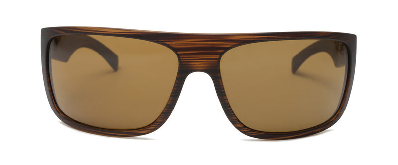 El Camino Matte Brown Designer Wrap Around Sunglasses