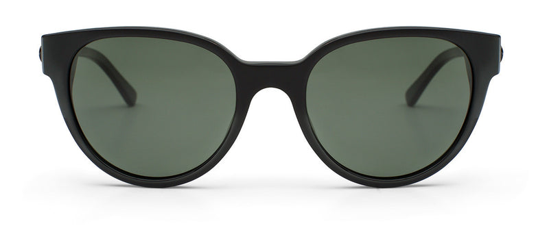 Midnight City Matte Black Round Sunglasses Womens