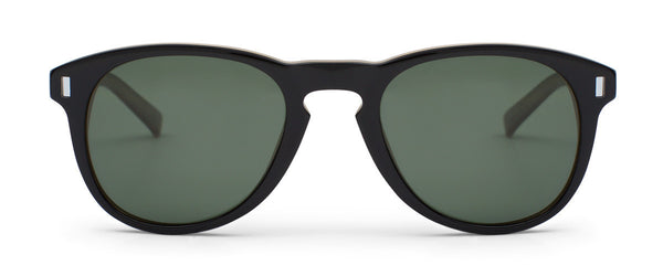 Nowhere To Run Black Circle Sunglasses