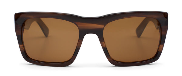 Stones Throw Marblewood Square Framed Sunglasses