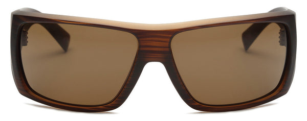 The Insider Matte Brown Wrap Sunglasses
