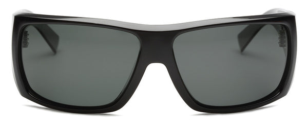 The Insider Matte Black Wrap Sunglasses