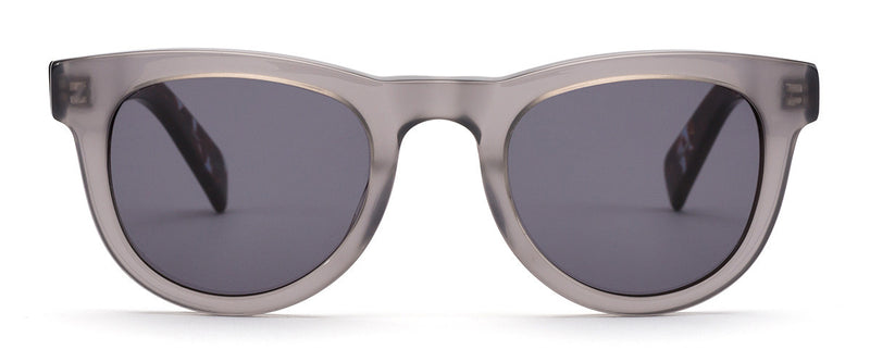 Up All Night Grey Tortoise Unisex Round Sunglasses