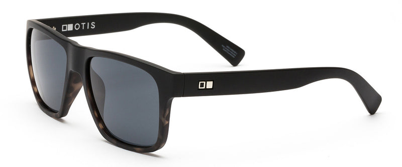 Life On Mars Matte Black Mens Wayfarer Sunglasses Angle 1