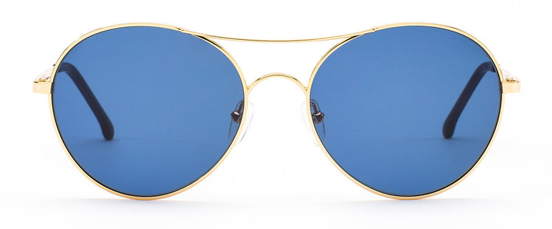 Memory Lane Gold Round Sunglasses Women