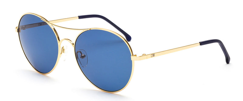 Memory Lane Gold Round Sunglasses Women Angle 1