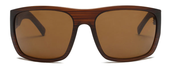 Tough Love Matte Brown Wrap Around Shades
