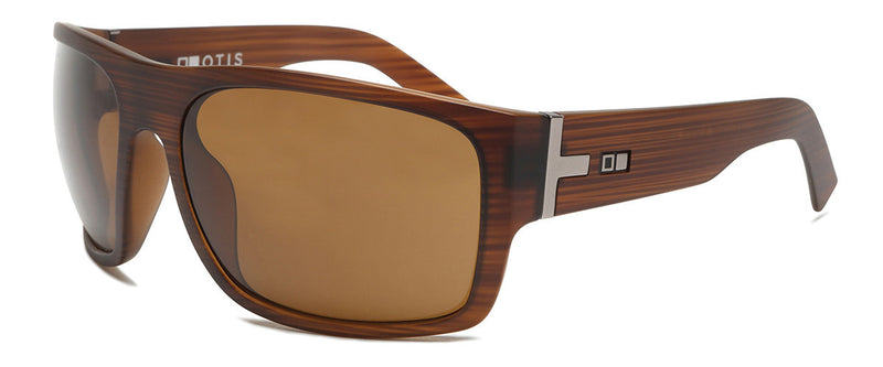 Tough Love Matte Brown Wrap Around Shades Angle 1