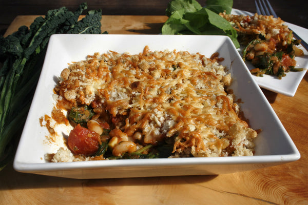 Bean and Kale Gratin