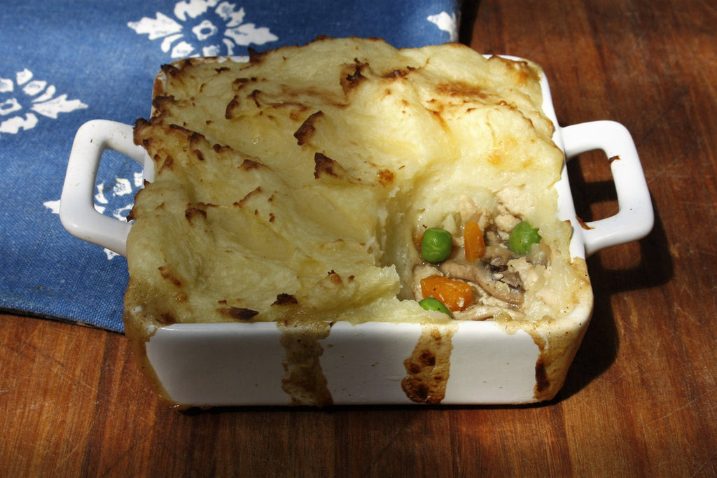 Chicken Pie with Cauliflower Mash