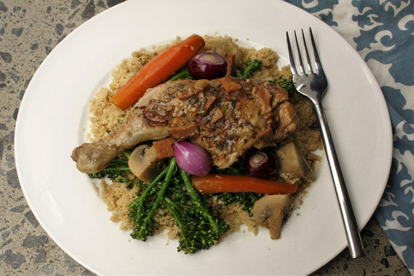 Coq au Vin Blanc (chicken in white wine)