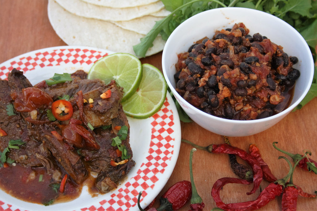 Mexican Beef and Black Bean Salsa