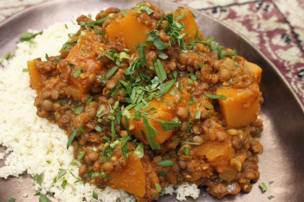 Pumpkin and Lentil Tagine