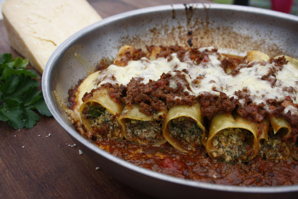 Eggplant, Ricotta and Vegetable Cannelloni