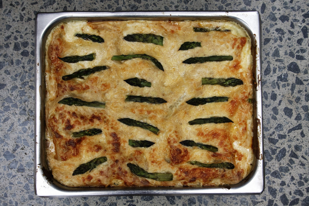 Salmon Lasagna with Asparagus