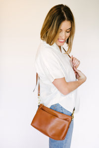 Maple Leather Crossbody