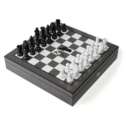 1633A-Carbon Fiber Chess Set