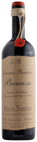 Giovanni Montisci - Giovanni Montisci - Barrosu Riserva Franzisca DOC Sardegna 2016 - Buy Red Online Hong Kong - Cheese Meets Wine