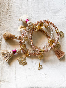 Rose Goldie Magenta Bracelet Set