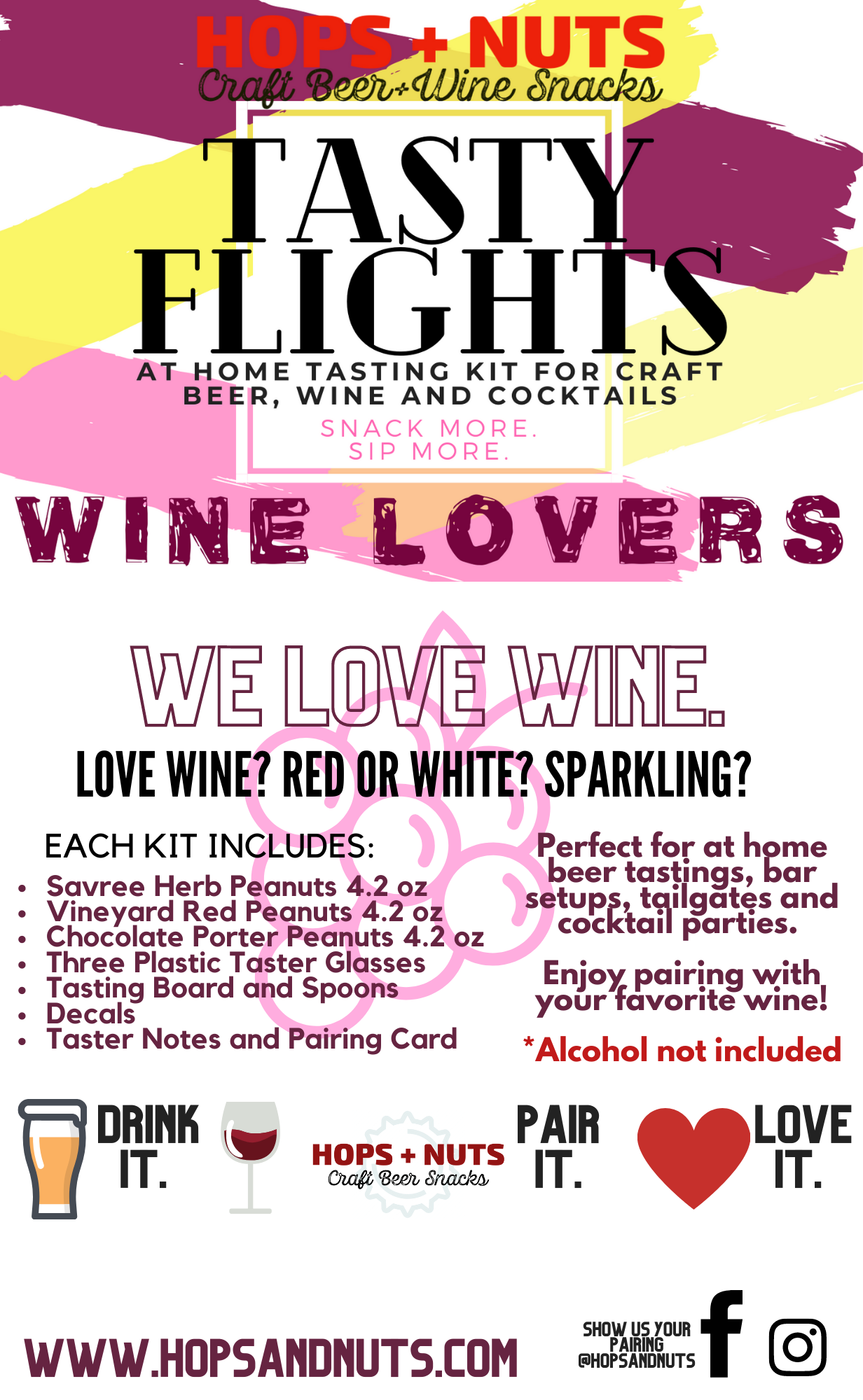 Tasty Flights At-Home Tasting Kit : WINE LOVERS