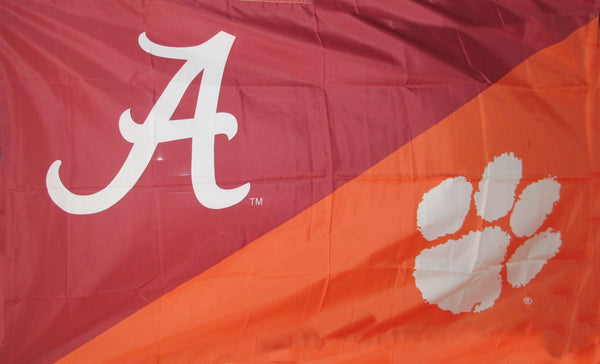 Alabama & Clemson House Divided Flag