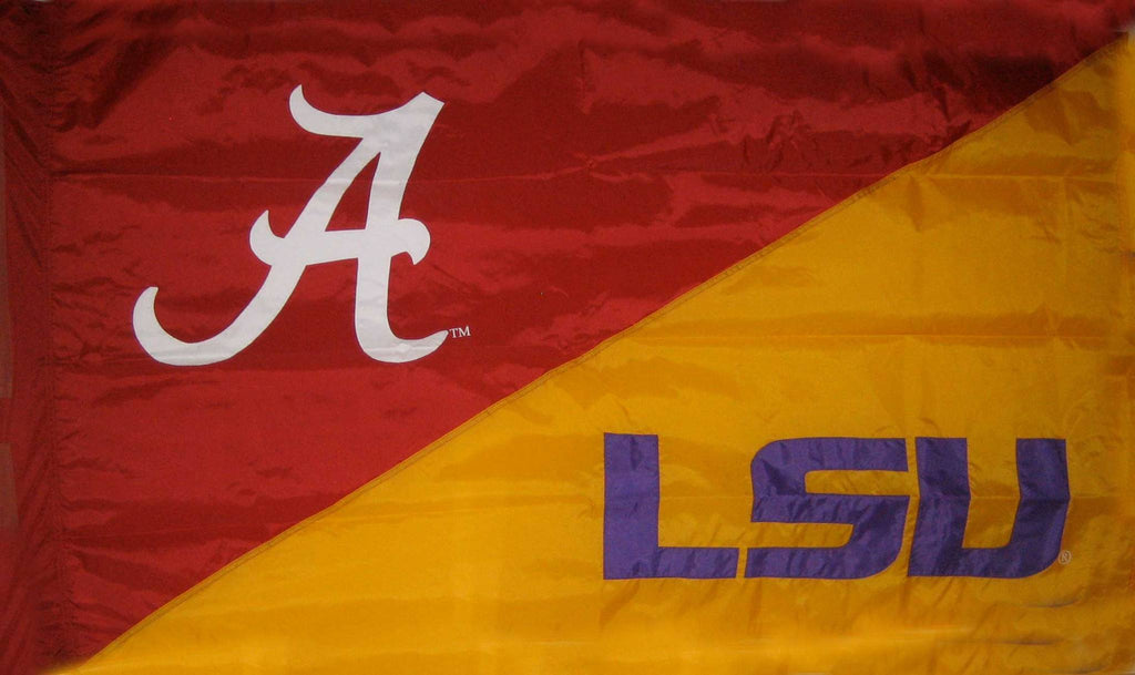 Alabama & LSU House Divided Flag