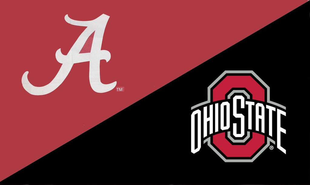 Alabama and The Ohio State University House Divided Flag