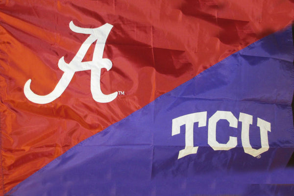 Alabama & TCU House Divided Flag