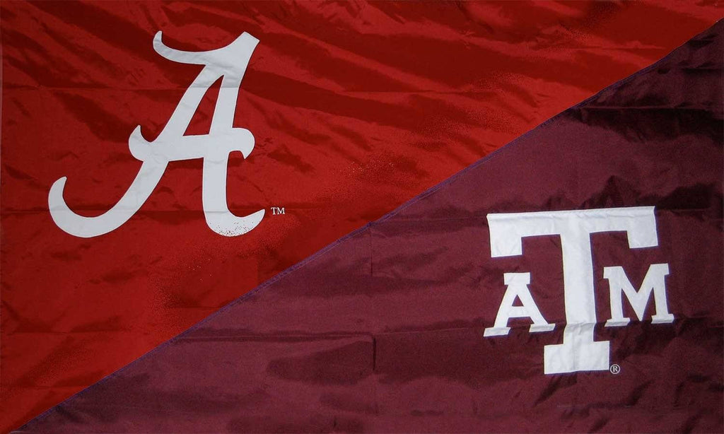 Alabama and Texas A&M House Divided Flag