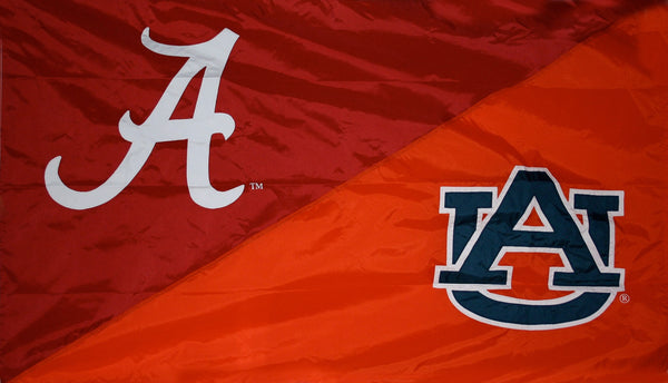 Alabama & Auburn House Divided Flag