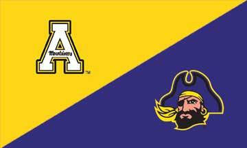 Appalachian State & East Carolina House Divided Flag