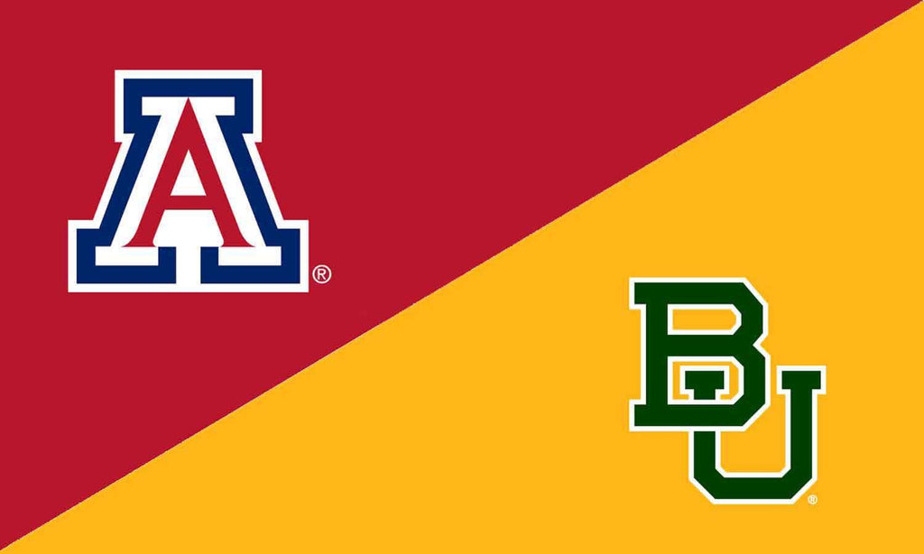 Arizona & Baylor House Divided Flag