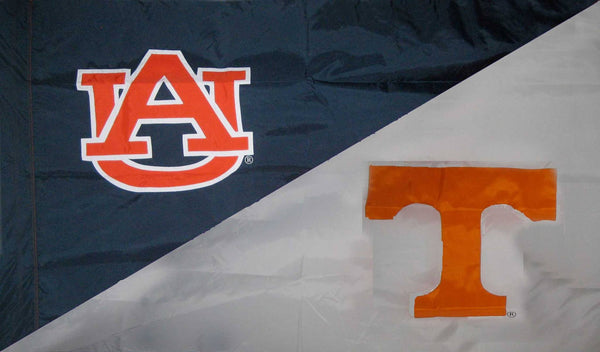Auburn & Tennessee House Divided Flag