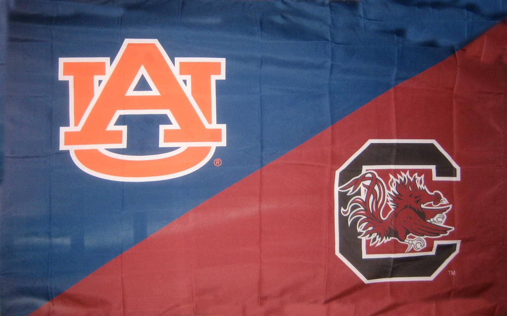 Auburn & South Carolina House Divided Flag