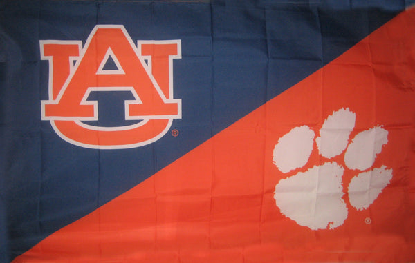 Auburn & Clemson House Divided Flag