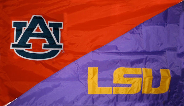 Auburn & LSU House Divided Flag