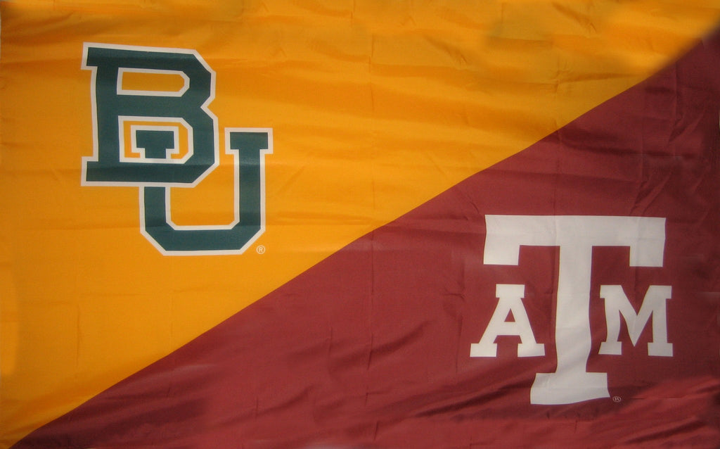 Baylor & Texas A&M House Divided Flag